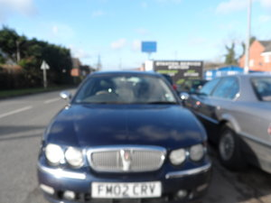 2002 Rover 75 Connoisseur Saloon in blue last owner 16 YEARS