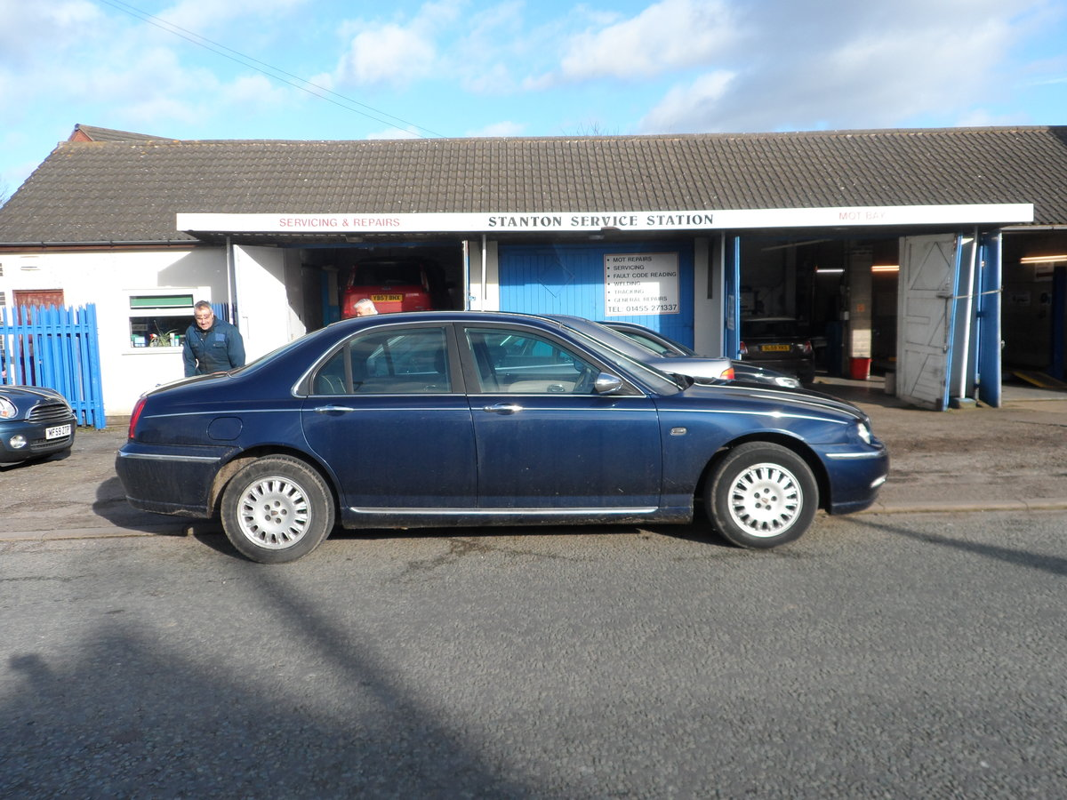 2002 Rover 75 Connoisseur Saloon in blue last owner 16 YEARS For Sale (picture 2 of 6)