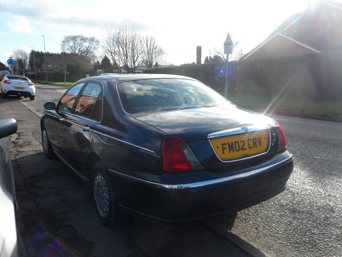 2002 Rover 75 Connoisseur Saloon in blue last owner 16 YEARS For Sale (picture 3 of 6)
