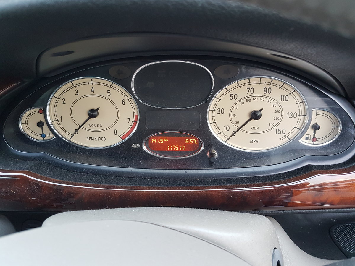 1999 All Original Rover 75 Club Saloon 2.0 V6 petrol engine (KV6) For Sale (picture 6 of 6)