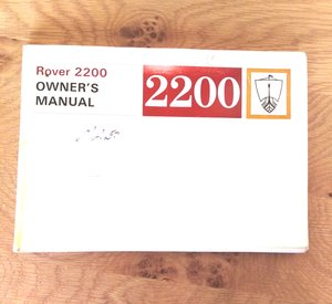 1975 Rover p6 owner's handbook