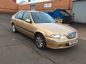 2001 Low mileage  Automatic Rover 45 iXS Hatchback