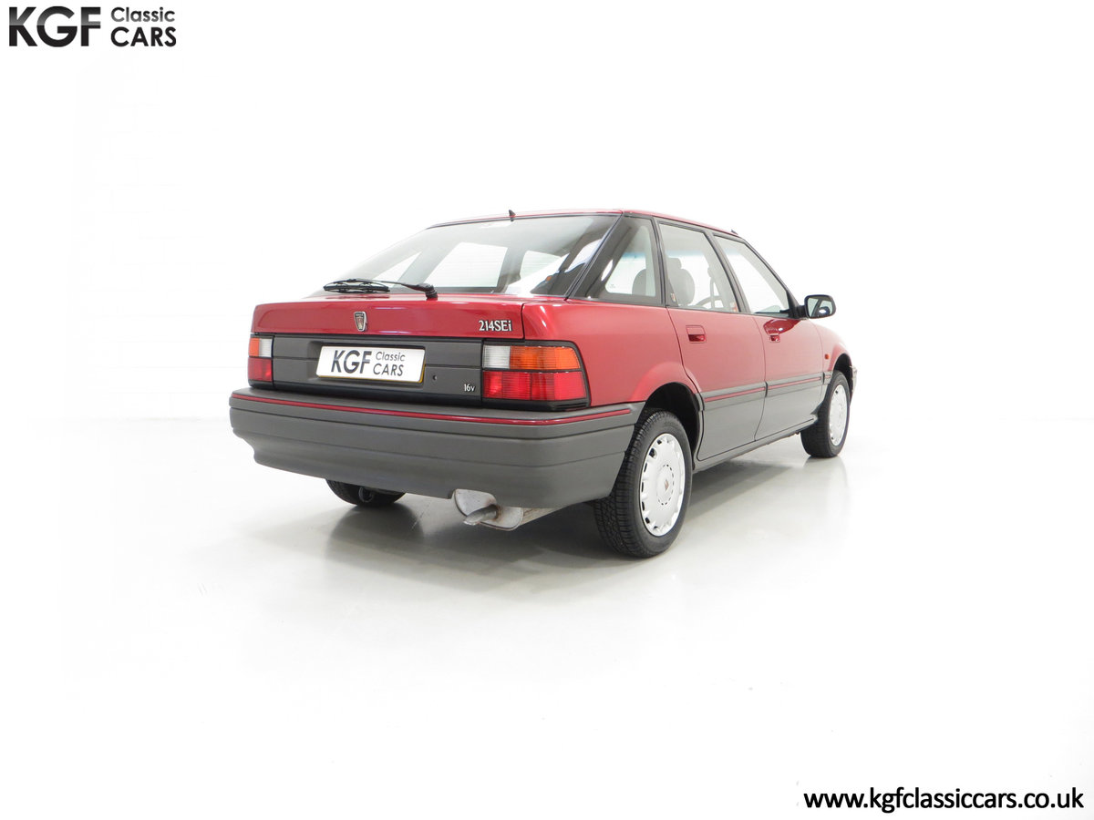1993 An Outstanding Rover 214SEi with Only 13,187 Miles For Sale (picture 5 of 6)