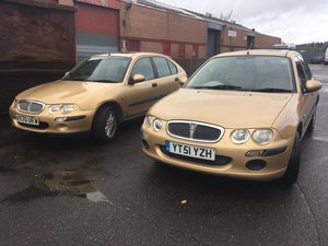 2001 Rover 25 1.6 petrol Special Limited Edition in Gold SOLD