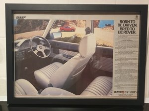 Rover 200 Framed Advert Original