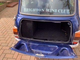 Classic Tahiti blue Rover Mini Cooper 1275cc