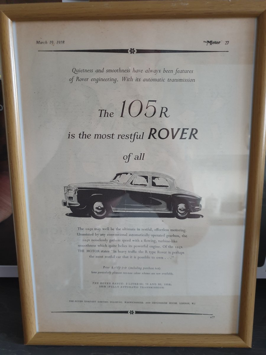 Original 1958 Rover P4 advert For Sale (picture 1 of 1)