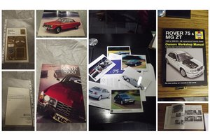 ROVER VARIOUS MODELS MEMORABILIA AND SPARE FOR SALE