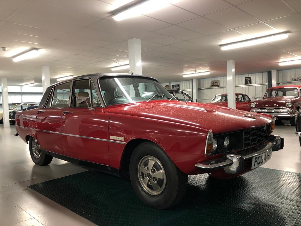 1976 Rover 3500S P6. Brigade Red with Tan pleated leather up SOLD (picture 3 of 6)