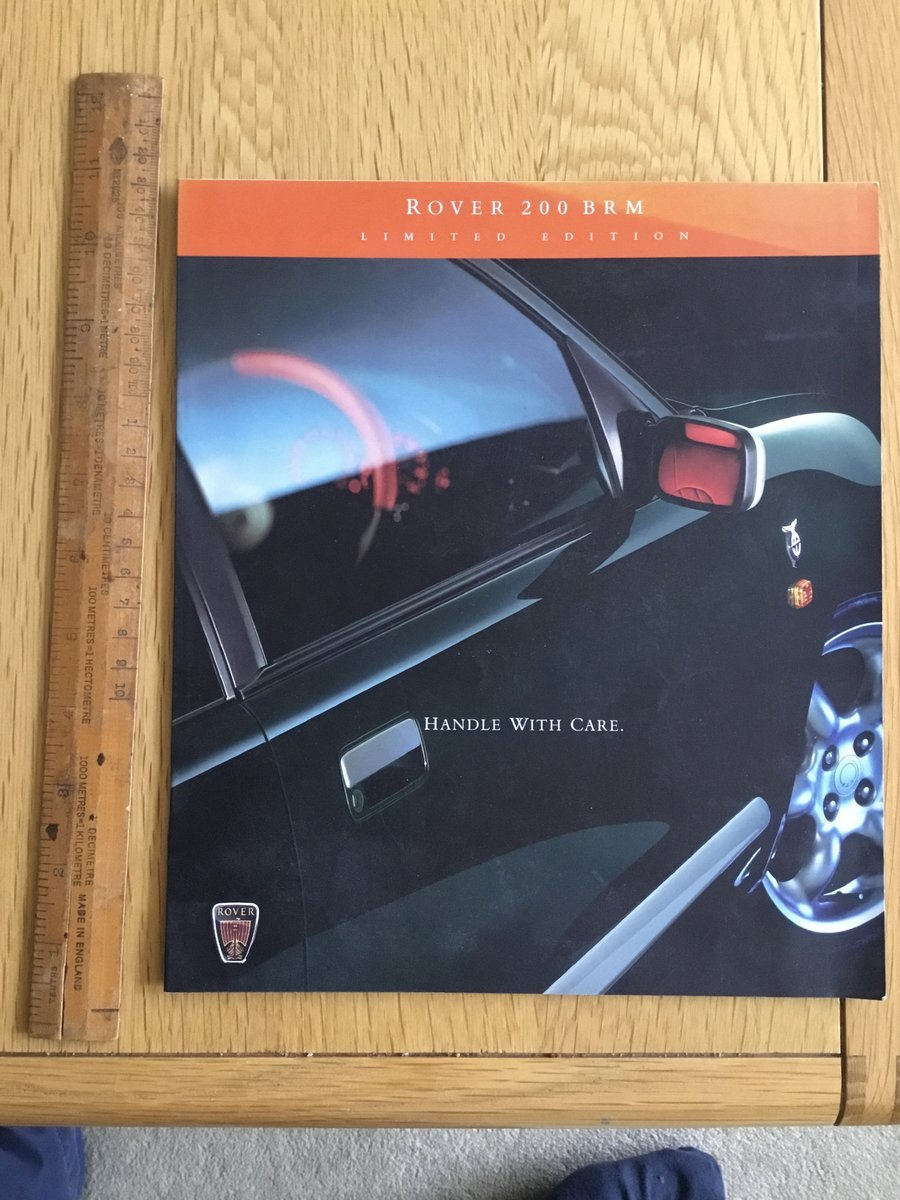 1998 Rover BRM 200 brochure SOLD (picture 1 of 1)
