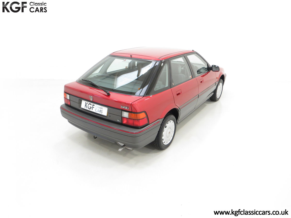 1993 An Outstanding Rover 214SEi with Only 13,187 Miles SOLD (picture 12 of 24)