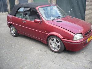 1995 Rare Rover 114 Metro convertible.