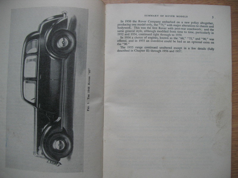 Rover- 'Pitmans' Workshop Manual covers early cars SOLD (picture 4 of 4)