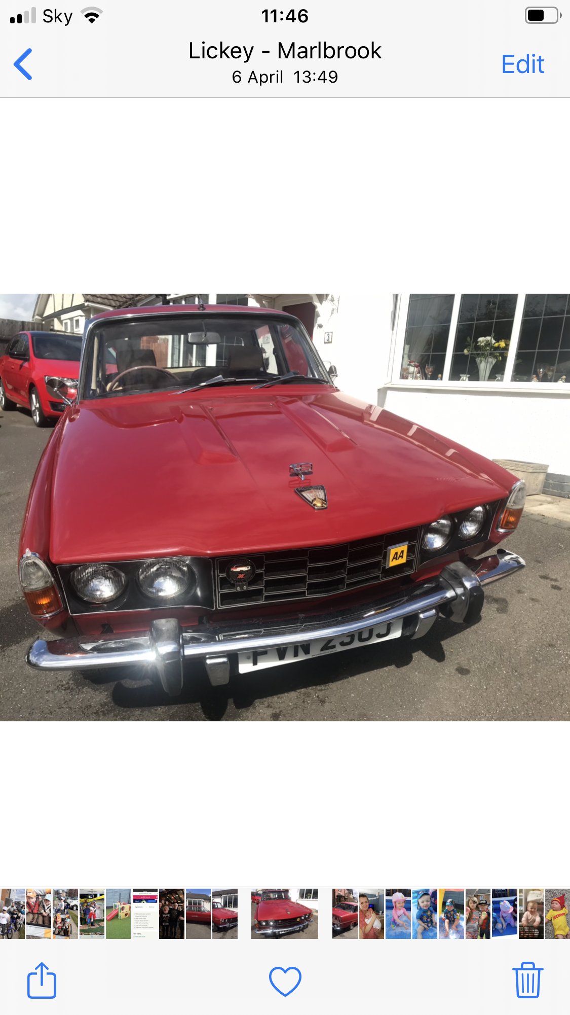 1971 Rover P6 Manual For Sale (picture 1 of 6)