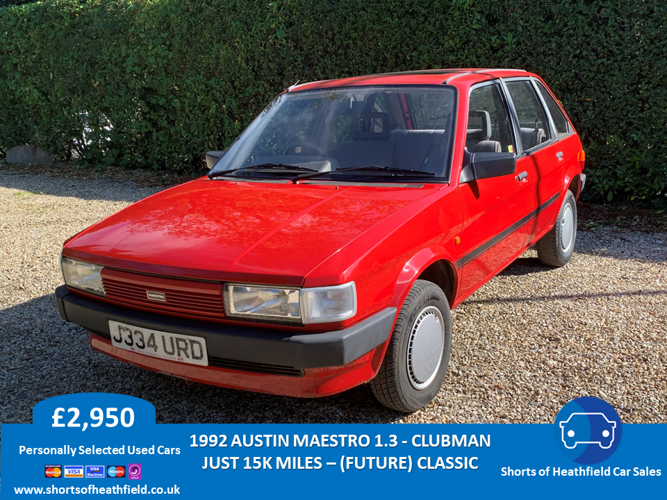 1992 Rover Maestro Clubman 1.3 - Only 15k Miles For Sale (picture 1 of 6)