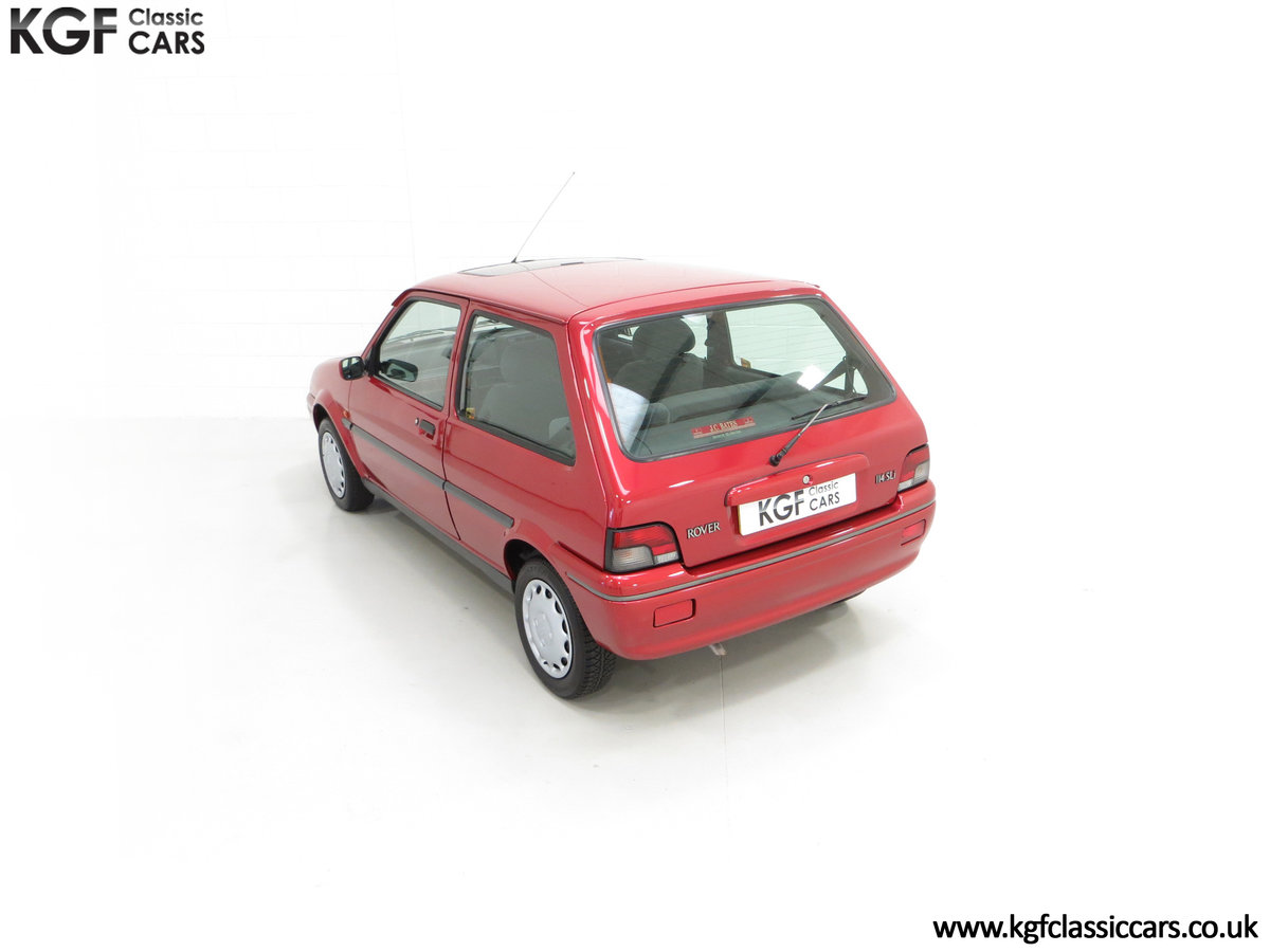 1996 A Fabulous Rover 114SLi with 9,876 Miles For Sale (picture 9 of 24)