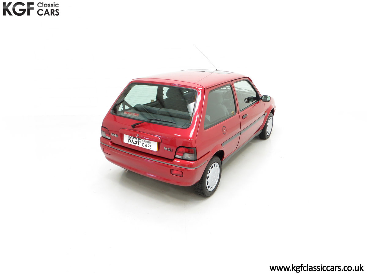 1996 A Fabulous Rover 114SLi with 9,876 Miles For Sale (picture 12 of 24)