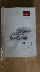 Picture of Rover 400 workshop manual For Sale
