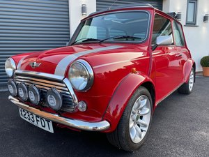Red Classic Rover Mini Cooper Sport with Webasto