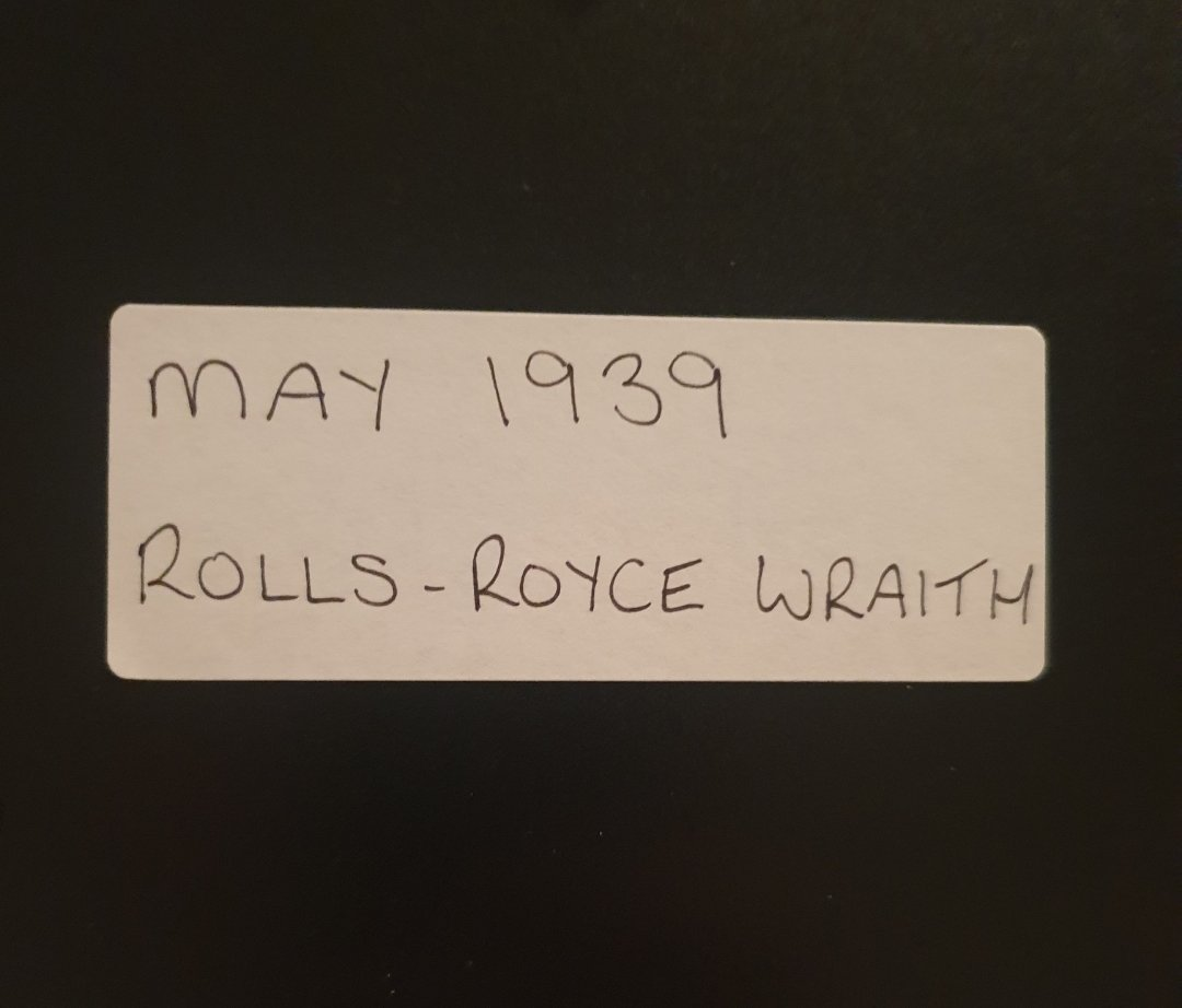 1971 Original 1939 Rolls-Royce Wraith Framed Advert  For Sale (picture 2 of 3)