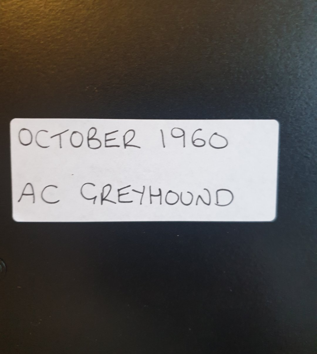 1986 Original 1960 AC Greyhound Framed Advert  For Sale (picture 2 of 3)