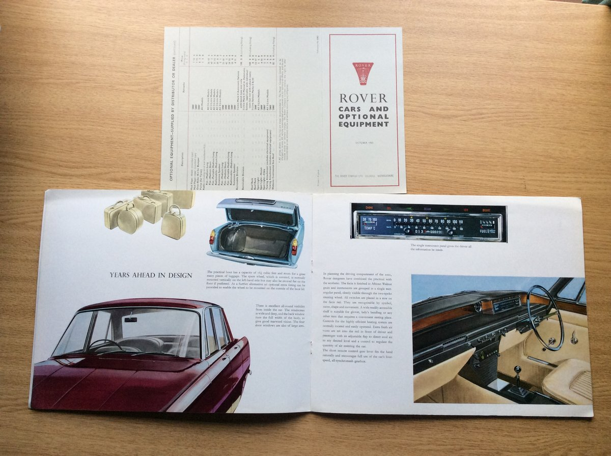 1965 Rover 2000 sales brochure For Sale (picture 1 of 4)