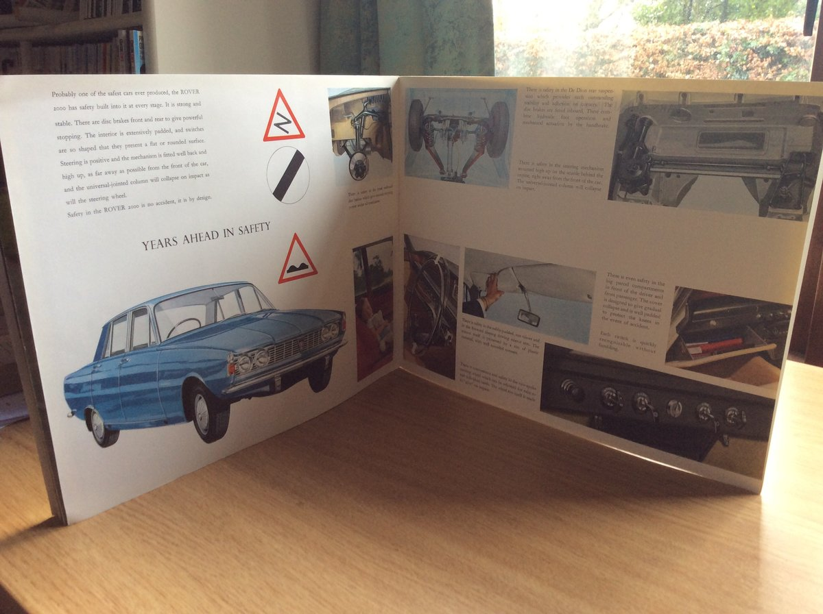 1965 Rover 2000 sales brochure For Sale (picture 4 of 4)