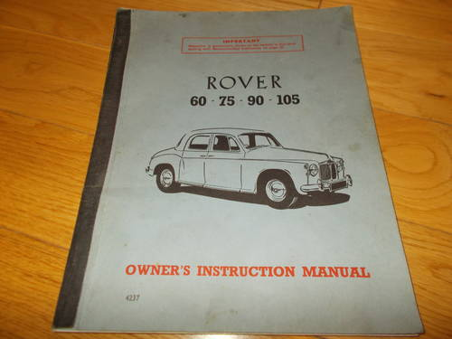 0000 rover 100 owners manual For Sale (picture 1 of 2)