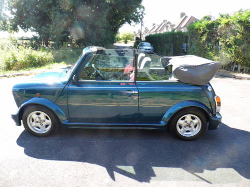 1994 Mini Cabriolet in Caribbean blue with 1 owner For Sale (picture 2 of 6)