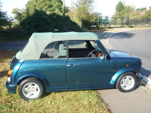 1994 Mini Cabriolet in Caribbean blue with 1 owner For Sale (picture 4 of 6)