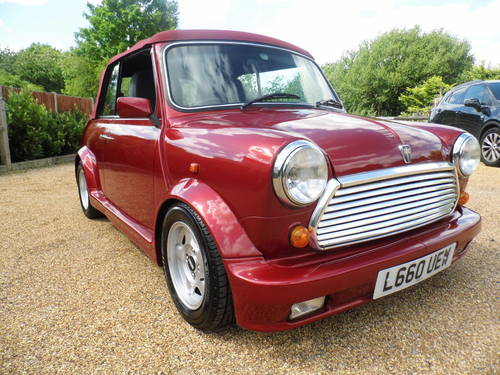 1994 Rover Mini Cabriolet in Nightfire red For Sale (picture 1 of 6)