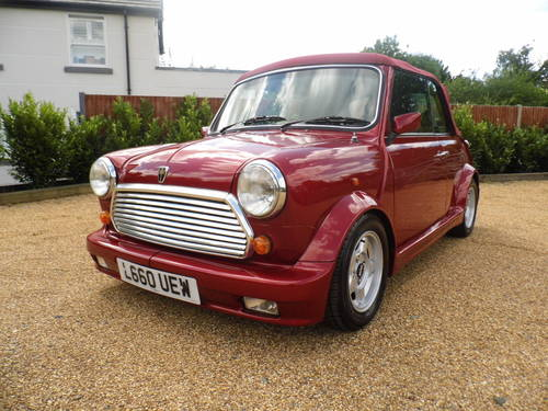 1994 Rover Mini Cabriolet in Nightfire red For Sale (picture 2 of 6)