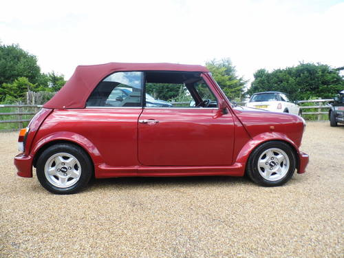 1994 Rover Mini Cabriolet in Nightfire red For Sale (picture 3 of 6)