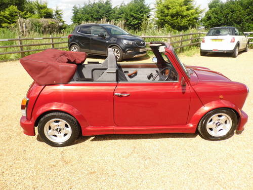 1994 Rover Mini Cabriolet in Nightfire red For Sale (picture 4 of 6)