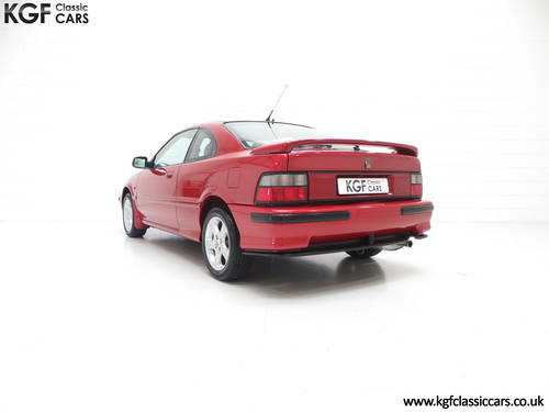 1998 A Full-Blooded R8 Rover 200 1.8VVC Coupe Tomcat 29,544 mile  SOLD (picture 4 of 6)