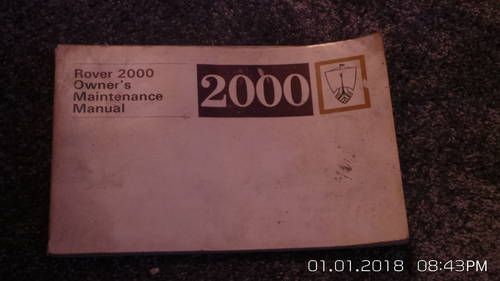 rover 2000  p6 WORKSHOPMANUAL For Sale (picture 1 of 4)