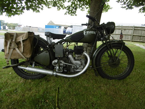 WD350 side valve 1944 used in Normandy  SOLD (picture 1 of 6)