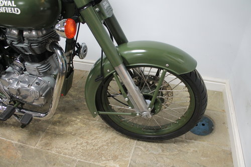 2015 Royal Enfield 500 cc EFi Bullet Classic Army 6800 miles SOLD (picture 2 of 6)