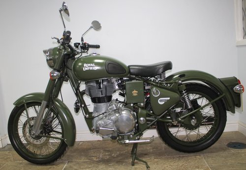 2015 Royal Enfield 500 cc EFi Bullet Classic Army 6800 miles SOLD (picture 6 of 6)