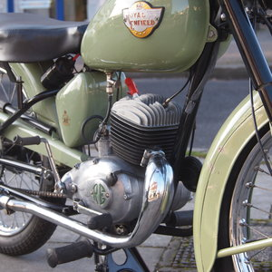 1956 Royal Enfield Ensign 150cc Two Stroke Single.  SOLD