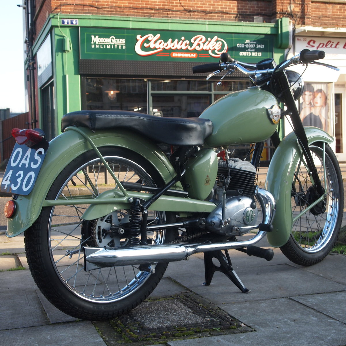 1956 Royal Enfield Ensign 150cc Two Stroke Single.  SOLD (picture 2 of 6)