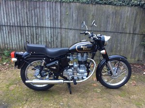 2008 Royal Enfield 350 Black and gold 2400 miles only