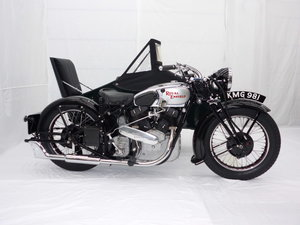 1938 Royal enfield kx 1140cc v twin with sidecar