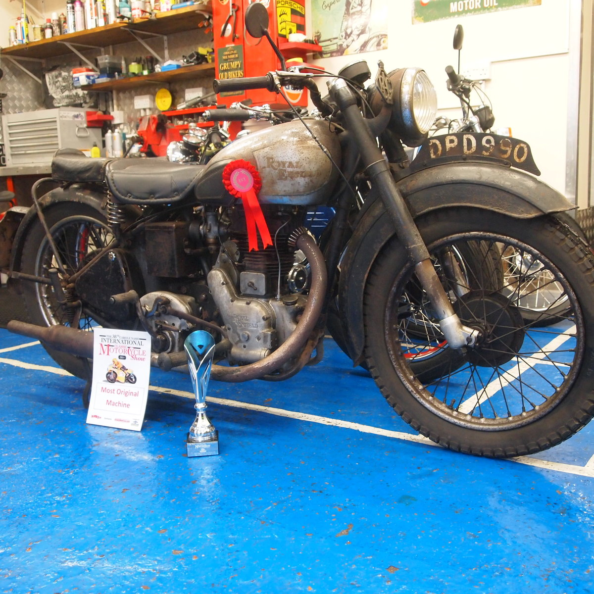 1949 Royal Enfield Model G 350cc Original & Unmolested. SOLD (picture 3 of 6)
