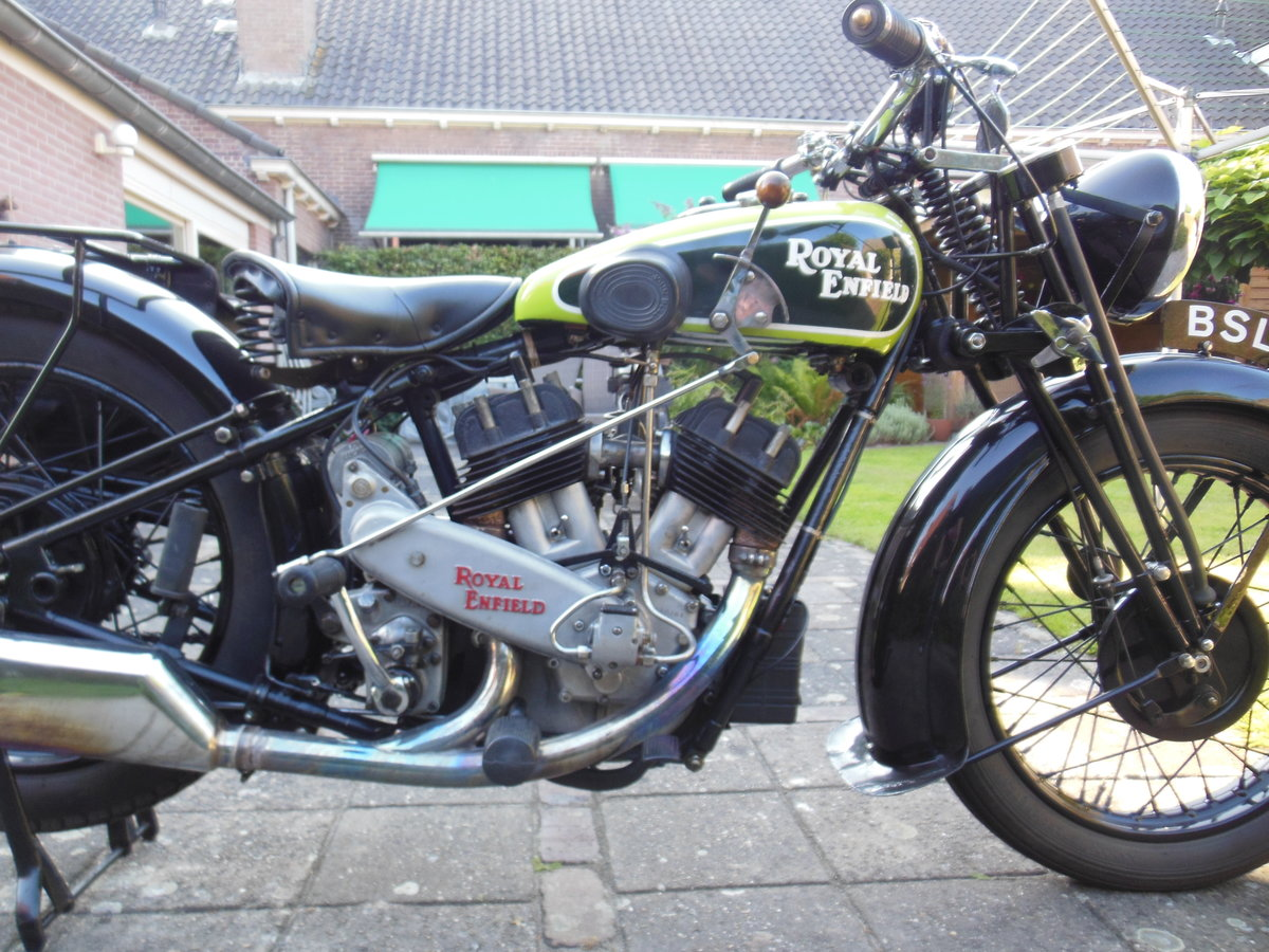 1935 Royal Enfield V twin model K. SOLD (picture 1 of 5)