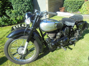 royal enfield model g  with cherished number