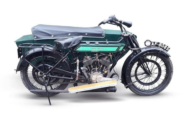 1924 ROYAL ENFIELD 8HP MOTORCYCLE COMBINATION (LOT 387) SOLD by Auction (picture 1 of 1)
