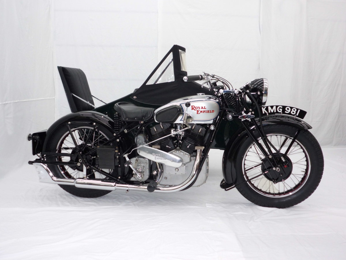 1938 ROYAL ENFIELD KX 1140cc SIDECAR COMBINATION For Sale (picture 1 of 6)