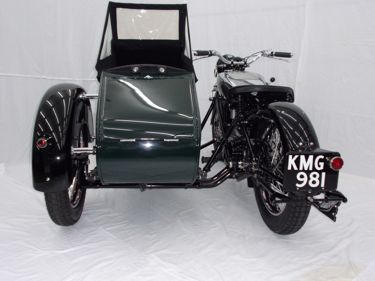 1938 ROYAL ENFIELD KX 1140cc SIDECAR COMBINATION For Sale (picture 4 of 6)
