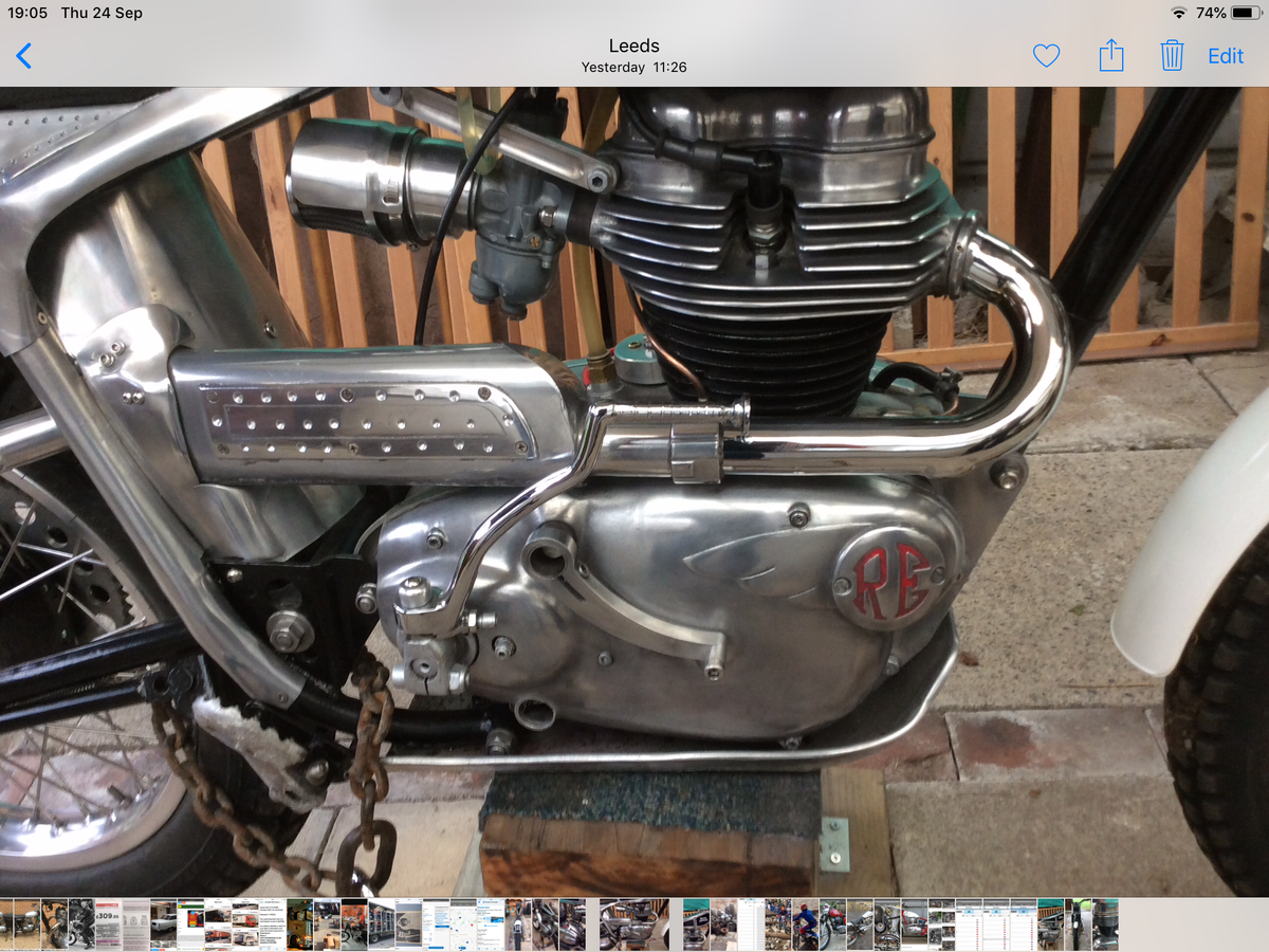 1960 250 cc Royal Enfield trials For Sale (picture 4 of 6)